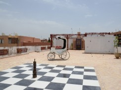 photo de la terrasse de notre agence de Marrakech