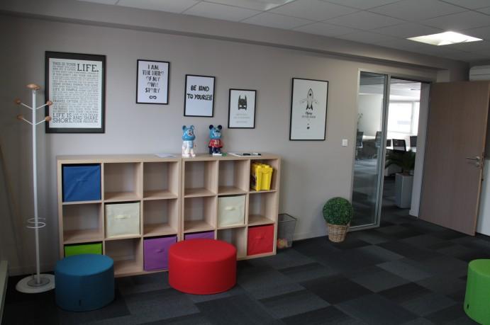 Photo de l'intérieur de l'agence de Lyon