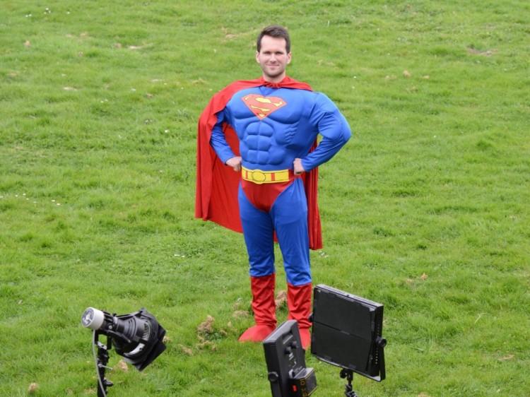 Photo du tournage de la websérie norsys - superhéros